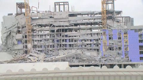 The construction site of the Hard Rock Hotel in New Orleans.
