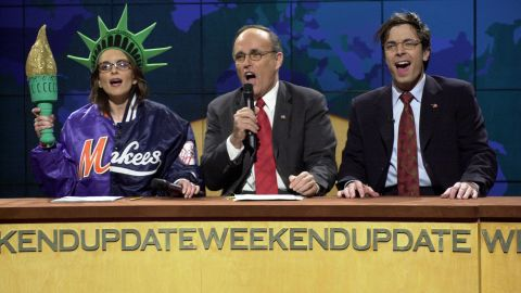 """Giuliani appears on an episode of """"Saturday Night Live"""" in December 2001."""