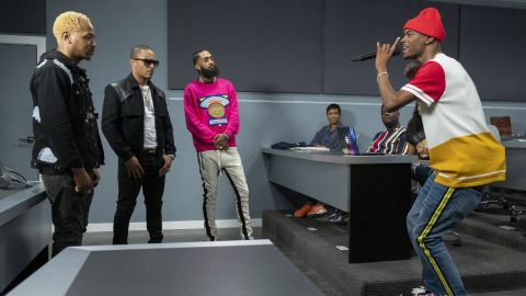 """The late rapper Nipsey Hussle made a guest appearance on the premiere episode of the Netflix series """"Rhythm and Flow."""""""