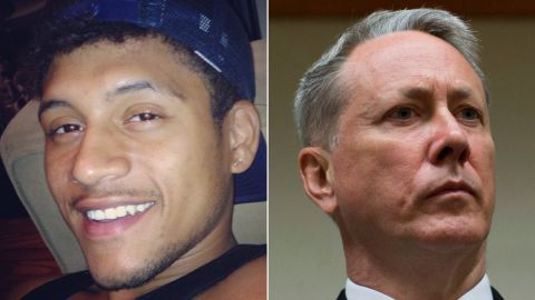Former police officer Robert Olsen, right, was found not guilty of murder in the March 2015 shooting death of Anthony Hill.
