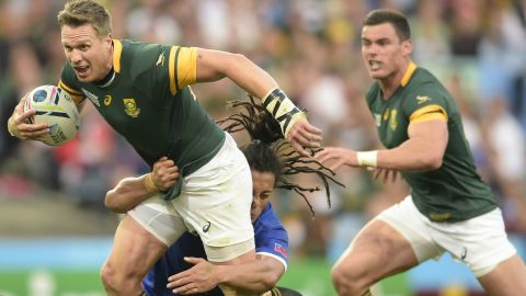 Jean de Villiers represented South Africa 109 times and was captain of the Springboks when Japan secured a famous win at the 2015 Rugby World Cup.