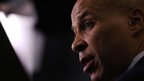 Booker is seen after a Democratic debate in Westerville, Ohio, in October 2019.
