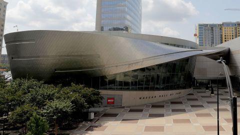 The NASCAR Hall of Fame building in Charlotte, North Carolina.