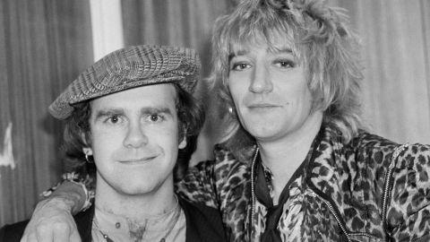 Elton John with Rod Stewart in London in 1978.