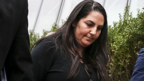Marjorie Klapper, 50, leaves federal court in Boston on March 29, 2019.