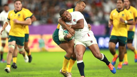 Kurtley Beale was powerless to stop Kyle Sinckler's charge to the line.