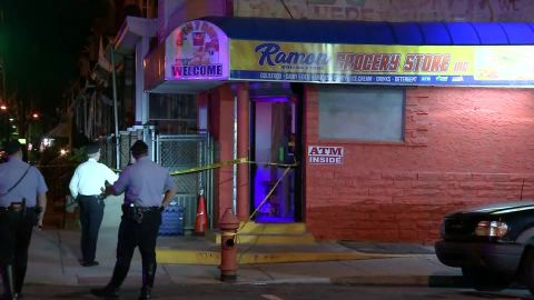 The 11-month-old was shot in this neighborhood Saturday night while inside a car, police said.