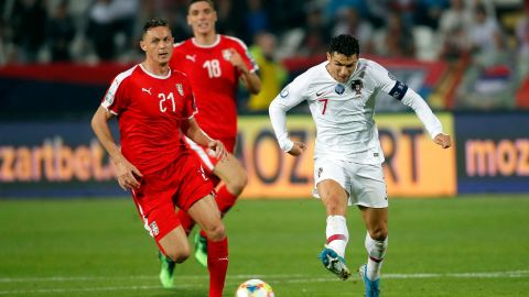 The Serbian FA has been punished for racist behavior of its fans during the country's match against Portugal in Belgrade.