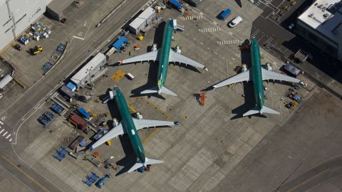 RENTON, WA - AUGUST 13: Boeing 737 MAX airplanes are seen after leaving the assembly line at a Boeing facility on August 13, 2019 in Renton, Washington. (Photo by David Ryder/Getty Images)
