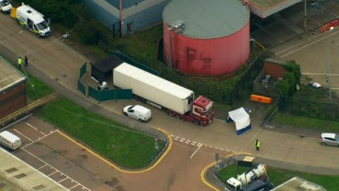 39 dead bodies were found in a truck in Essex, southeast England.
