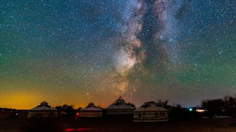 <strong>Chifeng, China: </strong>A dramatic October night sky over Dalinor Lake, on of the largest lakes in Inner Mongolia.
