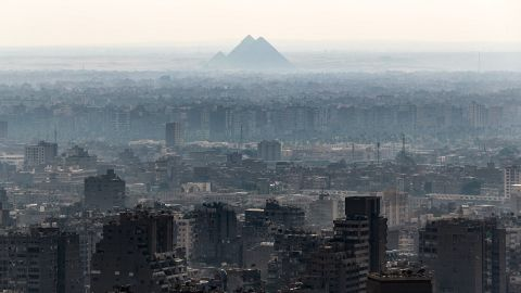 <strong>Cairo: </strong>This view from the Egyptian capital's Cairo Tower looks toward the Giza Pyramids. <br />