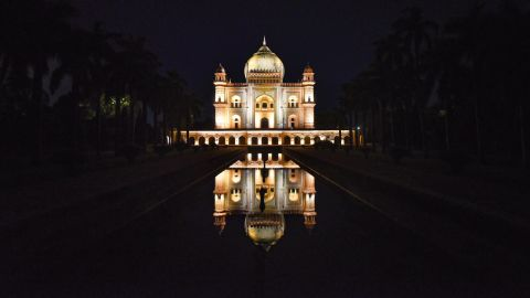 <strong>Delhi: </strong>An illuminated view of Safdarjung Tomb in New Delhi. An example of late Mughal Empire architecture, it was built in 1754. <br />