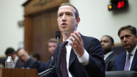 WASHINGTON, DC - OCTOBER 23: Facebook co-founder and CEO Mark Zuckerberg testifies before the House Financial Services Committee in the Rayburn House Office Building on Capitol Hill October 23, 2019 in Washington, DC. Zuckerberg testified about Facebook's proposed cryptocurrency Libra, how his company will handle false and misleading information by political leaders during the 2020 campaign and how it handles its users' data and privacy. (Photo by Chip Somodevilla/Getty Images)