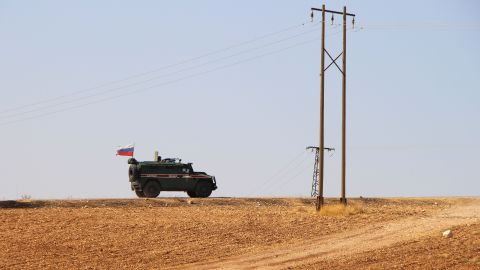 Russian military police began patrols on part of the Syrian border on Wednesday, October 23.