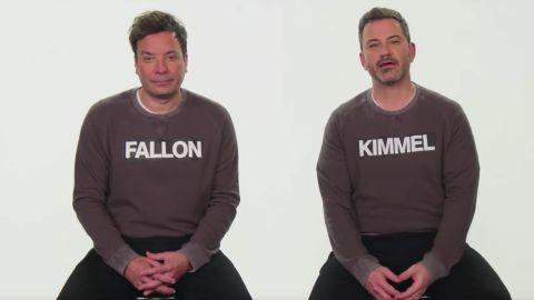 Jimmy Fallon and Jimmy Kimmel are practically twins.