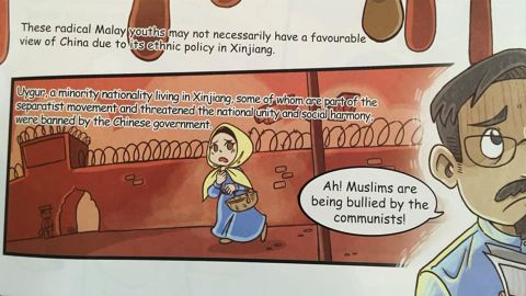 A drawing featured in a comic book banned by Malaysia, because its content was likely to sow dissent among the country's different religious communities.