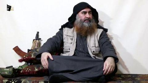 ISIS leader Abu Bakr al-Baghdadi's appears in a video dated April 29, 2019.