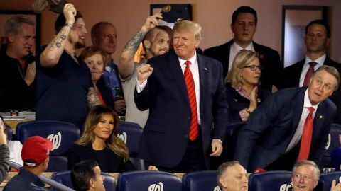 President Trump attends Game Five of the 2019 World Series.