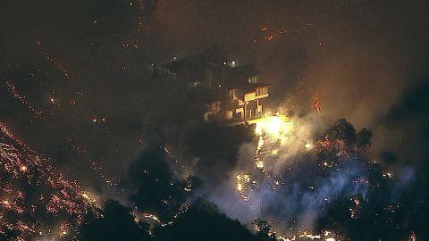 LA home fire burns