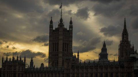 The Houses of Parliament stand in London, U.K., on Monday, Oct. 28, 2019. The European Union looks set to grant the U.K. a delay to Brexit until Jan. 31, prolonging the uncertainty for businesses and citizens but removing the risk of a damaging no-deal split on Thursday. Photographer: Jason Alden/Bloomberg via Getty Images