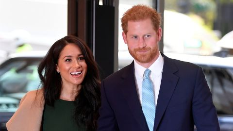 Prince Harry, Duke of Sussex, and his wife Meghan, Duchess of Sussex attend the annual WellChild Awards in London in October 15, 2019.