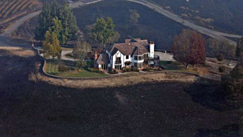 A home between Healdsburg and Windsor is surrounded b