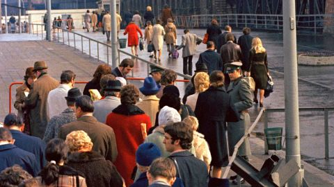 Checkpoints along the Berlin Wall were temporarily opened in late March and early April 1972, to allow families and friends on both sides of the barrier to reunite over the Easter holidays.