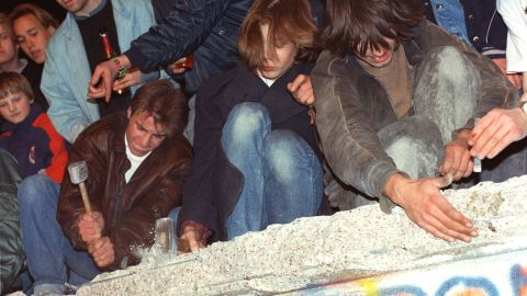 On November 9, 1989, the East German government opened the country's borders with West Germany. The following day, citizens tried to pull down the Wall with just about any tool they could get their hands on.