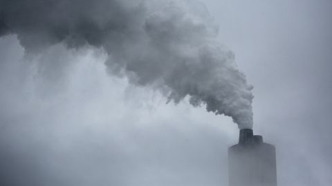 Emissions rise from the Big River Electric D.B. Wilson Station power plant, that burns coal mined by MurrayEnergy Holdings Co., in Centertown, Kentucky, U.S., on Wednesday, Oct. 30, 2019. MurrayEnergy, the largest privately owned U.S. coal company,filed for Chapter 11 protection in the U.S. Bankruptcy Court in Columbus, Ohio, to restructure more than $2.7 billion ofdebt. Photographer: Luke Sharrett/Bloomberg via Getty Images