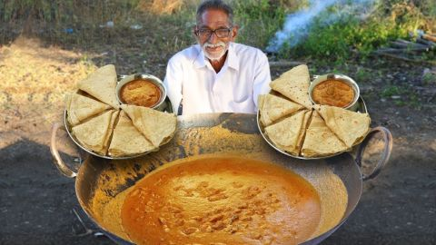 Narayana Reddy, the late star of YouTube channel Grandpa Kitchen, seen in artwork uploaded with one of his videos.