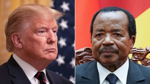 US President Donald Trump and Cameroon President Paul Biya