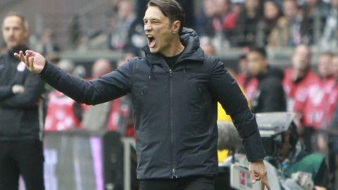 Bayern Munich's Croatian coach Niko Kovac is under pressure after a sorry away defeat to Eintracht Frankfurt.