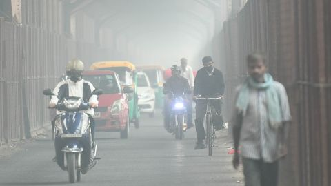 """Air quality has reached """"hazardous"""" levels in parts of New Delhi, following days of heavy smog."""