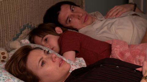 Scarlett Johansson, Ahzy Robinson and Adam Driver in 'Marriage Story'