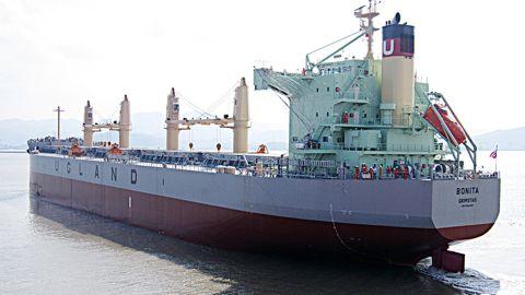 Pirates boarded the MV Bonita at the Cotonou port in Benin, shipping company J.J. Ugland said.