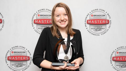 """Gassler competed against 29 other middle school students at the Broadcom MASTERS. When she won, she said she was """"genuinely"""" taken by surprise."""