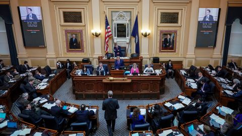 RICHMOND, VA - FEBRUARY 07: A view inside the House of Delegates chamber as Virginia Speaker of the House Kirk Cox presides over a session at the Virginia State Capitol, February 7, 2019 in Richmond, Virginia. Virginia state politics are in a state of upheaval, with Governor Ralph Northam and State Attorney General Mark Herring both admitting to past uses of blackface and Lt. Governor Justin Fairfax accused of sexual misconduct. (Photo by Drew Angerer/Getty Images)