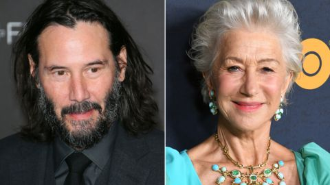 Keanu Reeves and Helen Mirren are just friends.