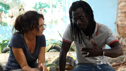 Dominika Kulczyk with Issa Kouyate, founder of Maison de la Gare.