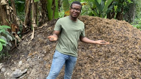 Liberian Mahmud Johnson set up J-Palm aged 22 , to increase yields of sustainable palm oil.