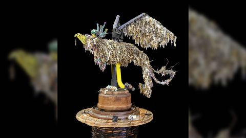 Jessie Mercer created a phoenix sculpture made out of thousands of keys to places that were lost in Paradise, California's Camp Fire.