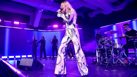 Ellie Goulding performs in New York during Vevo's 10-year anniversary event on October 16, 2019.