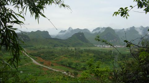 Landscape of the area surrounding Chuifeng cave in China