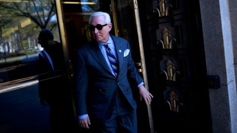 Trump associate Roger Stone departs for lunch during his trial on November 13, 2019 in Washington, DC.