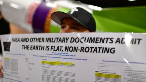 DENVER, CO - NOVEMBER 15: Timothy John from Tampa, FL. is in Flat Earth International Conference at Crowne Plaza Denver Airport. November 15, 2018. Hundreds of people who believe the Earth is flat attended the conference. (Photo by Hyoung Chang/The Denver Post via Getty Images)