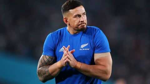 CHOFU, JAPAN - NOVEMBER 01:  Sonny Bill Williams of New Zealand warms up prior to the Rugby World Cup 2019 Bronze Final match between New Zealand and Wales at Tokyo Stadium on November 01, 2019 in Chofu, Tokyo, Japan. (Photo by Cameron Spencer/Getty Images)