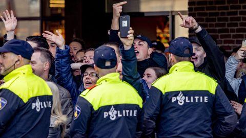 Pro 'Zwarte Piet' protesters in Den Bosch on Sunday.
