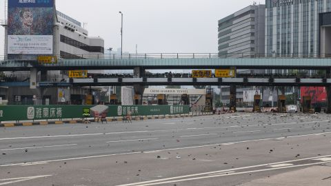 The entrance to the Cross-Harbour Tunnel, one of three tunnels connecting Hong Kong Island to Kowloon. The roadway is usually among the city's most packed.