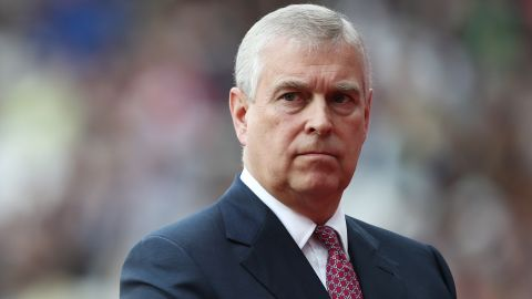 Prince Andrew is seen in August 2017.